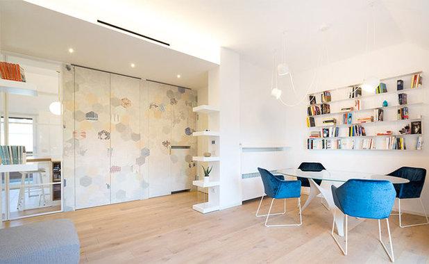 Moderno Sala da Pranzo by 23bassi | Studio di architettura