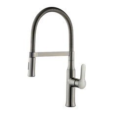 Magnetic Single Handle Brushed Nickel Kitchen Faucet