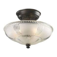 Elk Lighting Restoration Flushes 3-Light Semi Flush, Oiled Bronze