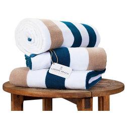 Contemporary Beach Towels by Laguna Beach Textile Company