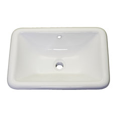 Vanity Fantasies 21 75 Cornet Porcelain Rectangular Drop In Vanity Sink White