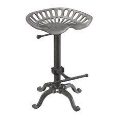 Bowery Hill 18.75-inch Metal Stool In Brown