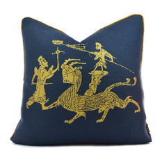 Dragon Dance Navy/Gold Pillow Case