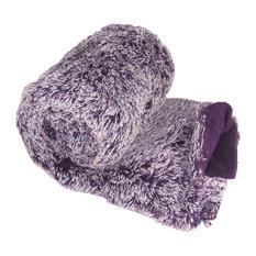 Woolly Mammoth Throw Blanket, Purple