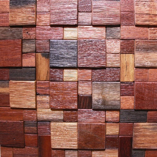 Wood Tile Kitchen Backsplash: Ancient Wood Mosaic Tile Backsplash Natural Wood Mosaic