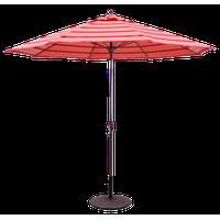 9' Patio Umbrella With Manual Tilt and Crank Lift, Bravada Salsa