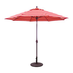 9' Patio Umbrella With Manual Tilt and Crank Lift, Bravada Salsa