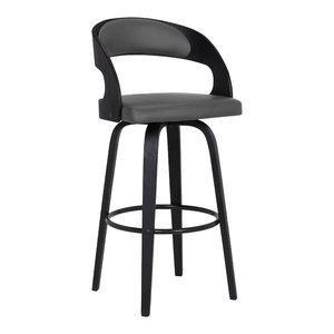 Enjoyable Armen Living Martini 26 Stationary Bar Stool Jet Black Dailytribune Chair Design For Home Dailytribuneorg