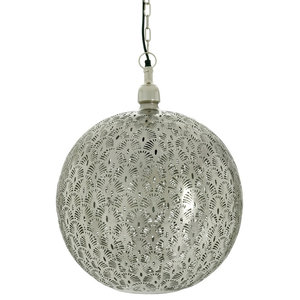 Moroccan Peacock Orb Pendant Light, Large