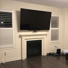 Pulldown TV Wall Mounting Bracket Install