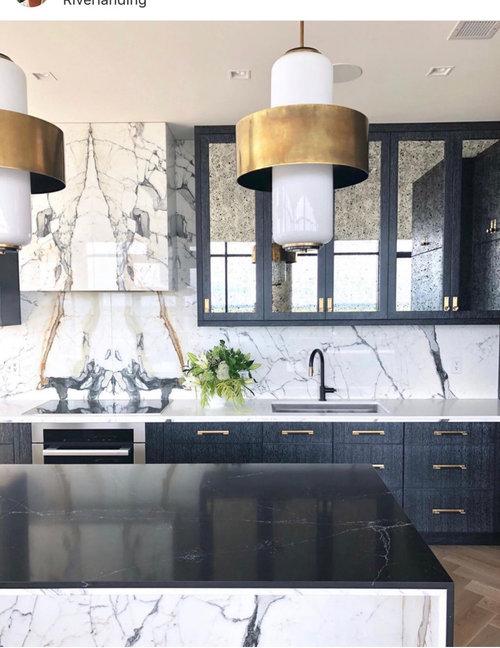 Cerused Oak Black Laminate Cabinets For Wet Bar