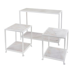 Marble Console and Accent Tables, 3-Piece Set