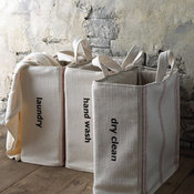French Laundry Home Hand Wash Tote - Red Stripe