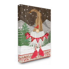 Winter Holiday Noel Pun with Country Christmas Gnome16x20