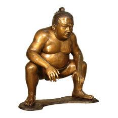 Sumo Wrestler Bronze Sculpture