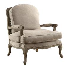Monroe Accent Chair, Linen