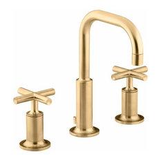 Kohler   Kohler Purist Bathroom Faucet, Vibrant Modern Brushed Gold    Bathroom Sink Faucets