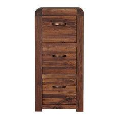 3 Drawer Shiro Solid Walnut Filing Cabinet