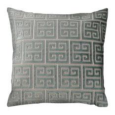 "Claudette Throw Pillow, Light Aqua, Beige 18""x18"""
