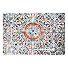 Kortoba Painting Print on White Wood, 100x70 cm
