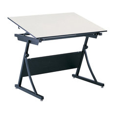 Safco Products   Safco PlanMaster Height Adjustable Drafting Table Base   Drafting  Tables