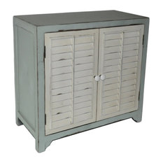 Cheungs - Coastal Shutter Door Cabinet - Accent Chests and Cabinets