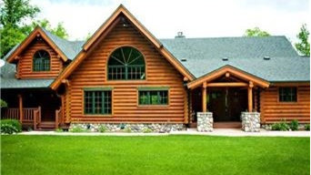 Awesome, authentic log cabin home on Swan Lake, featured in Lake & Home Magazine