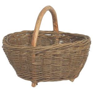 Green Ash Storage Carrying Log Basket