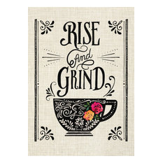 """Rise and Grind"" Canvas Wall Art, 10""x14"""