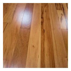 "5""x1/2"" Tigerwood Prefinished Engineered Wood Flooring, 2mm, 1 Box"