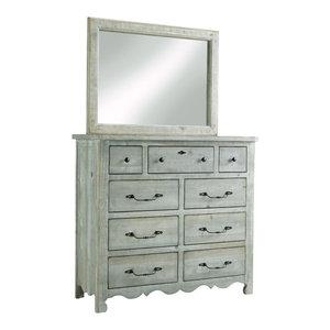 Chatsworth Drawer Dresser, Mint, With Mirror