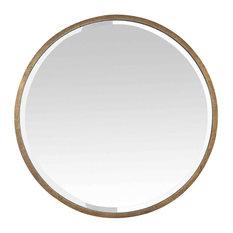 Round Gold Metal Mirror, 60 cm