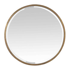 EMDE - Round Gold Metal Mirror, 60 cm - Wall Mirrors