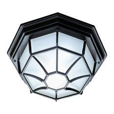 "Acclaim Lighting 2002 2 Light 11""W Outdoor Flushmount Ceiling - Matte Black"