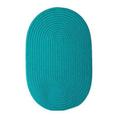Colonial Mills, Inc - Colonial Mills Boca Raton BR56 Turquoise 11' x 14' Oval - Outdoor Rugs