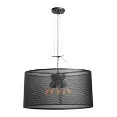 Epic 6-Light Round Pendant, Black, Incandescent