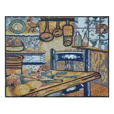 "Mosaic Kitchen Backsplash, Agriturismo Farmhouse, 30""x24"""