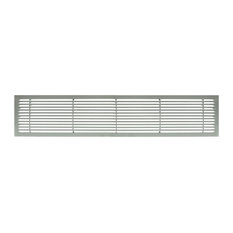 """AG20 4""""x24"""" Aluminum Fixed Bar Air Vent Grille, Brushed Satin"""