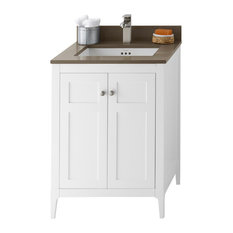 "Ronbow Briella Solid Wood 24"" Vanity Cabinet Base, White"