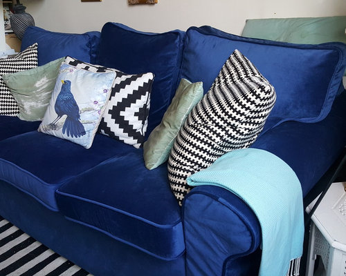 Custom IKEA Ektorp Sofabed Slipcovers In Velvet   Slipcovers And Chair  Covers