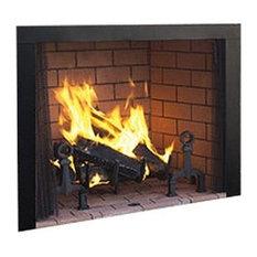 """Superior 50"""" Paneled Wood Burning Fireplace With White Herringbone Panels"""