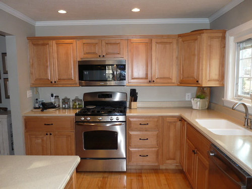 Orangey Maple Cabinets Suggestions Please