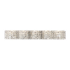 Ollie 5 Light Chrome and Clear Crystals Wall Sconce