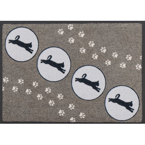 Easy Clean Jumping Cats Doormat, Small