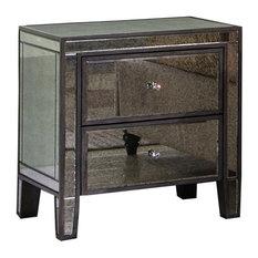 Henrik Gray Brown With Antique Mirror Nightstand