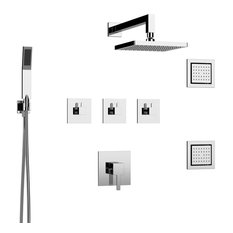 Collin Shower Set - Three Functions, Polished Chrome