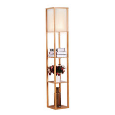 8 ft tall floor lamps houzz fastfurnishings modern 63 tall asian style floor lamp with off white shade aloadofball Gallery