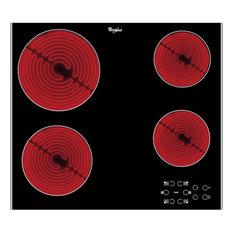 Whirlpool AKT8090LX Built-In Ceramic Electric Hob, Black