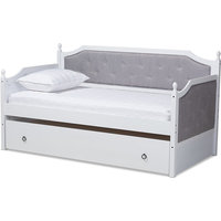 Mara Daybed With Trundle, White, Twin