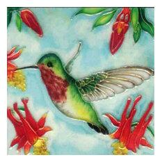 Ruby Throat Hummingbird Tile